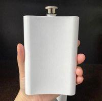 8 onças em branco de sublimação Hip Bottle frascos água do aço inoxidável de parede dupla DIY 8 onças Hip Frascos Outdoor Copos 120pcs TRANSPORTE MARÍTIMO CCA12612