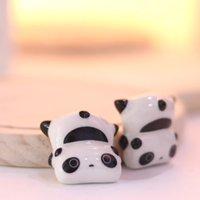 Japon Tarzı Chopstick Raf Sevimli Panda Şekli Seramik Eşya Porselen Kaşık Çubuklarını Tutucu Mutfak Yemek Sofra Dekor H Sqcyxy