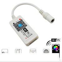 LED Wifi Controlador DC 5-28V WiFi Mini LED RGB Controlador por Android e IOS APP para SMD 3528 5050 Fita LED