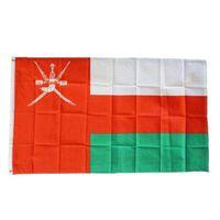 Regalo Oman Bandiera di alta qualità 3x5 FT Nazionale Banner 90x150cm Festival Partito 100D poliestere Indoor Bandiere esterna stampata e bandiere