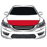 Von der Republik Polen Die Flagge 3.3X5FT Autohaubenabdeckung kann elastische 100% Polyester, Motorstoffe national gewaschen, Motorhaube Banner qfvlj