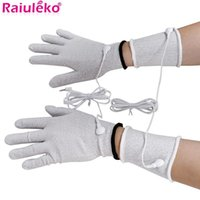 Electric Massagers Conductive Silver Fiber TENS EMS Electrode Therapy Gloves Socks Knee Pads Wrist Electrotherapy Unit For Phycical