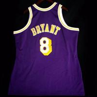 Cheap пользовательские ретро # 8 K b Mitchell College College Basketball Jersey мужская прошитая фиолетовый любого размера 2xs-5xL имя или номер бесплатная доставка
