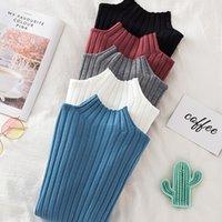 Croysier Pullover ребристый вязаный свитер осень зимняя одежда женская высокая шея с длинным рукавом стройные основные женские свитеры топы 201128