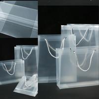 Sac-cadeau en plastique givré PP Etanche CLEAR PVC Emballage de Noël Emballage Sac à main Transparent Fashion Tote Emballage Sac 1 88gc G2