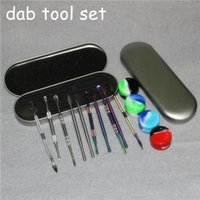 10pcs Sigaretta elettronica Sigaretta DAB strumento strumento in acciaio inox bar silicone concentrato di silicone strumenti dabber ego asciutto erba dabool