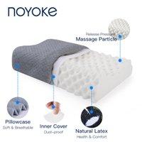 Noyoke Ortopedico Natural Latex Letto cuscino letto addormentato Ergonomico morbido collo cervicale proteggere cuscini da massaggio LJ200821