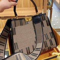 Sacola de compras clássica Mulheres Big Sacola Senhoras Bolsa de Ombro largo Bolsa de estilo Handmade Bordado Bolsa de padrão com caixa