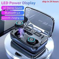 아이폰 12 LED 디지털 디스플레이 양이 HD 전화와 M11 TWS 무선 블루투스 이어폰 V5.0 IPX7 방수 이어폰 3600mAh 전원 은행