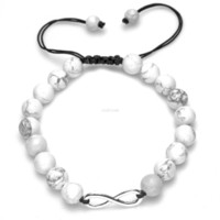 unendlichkeit lava felsen türkis perlen stränge armband stein einstellbare armbänder für frauen männer modeschmuck Will und sandiges Geschenk
