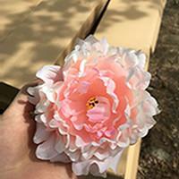 الفاوانيا محاكاة رئيس زهرة الراقي الاصطناعي زهور الفاوانيا رؤساء مناسبات الزفاف DIY لوازم اكسسوارات متعدد الألوان المتوفرة EEA2119