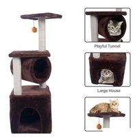 "Черная пятница 36 ""Cat Tree Bed Мебель царапина кошка башня POS QYLPCO NEW_DHBEST"