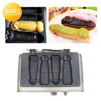 Machines à pain professionnel 4pcs en forme de profilé de poufles de la machine de machine de fabricant de gaufres de chien de fer 220v 110v bâtons
