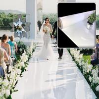 ثيمات بيضاء زينة الزفاف المركزية مرآة السجاد الممر عداء للحزب مرحلة اطلاق النار الدعائم 10 متر
