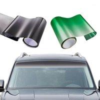 Fenêtre Sun Visor Strip 150 * 20cm Carte de la toile de voiture de 20 cm Film de pare-brise avant Shade UV DIY Decal Bannière Noir Vert PVC1