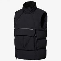 Nuovo Basta Mens Giù Gilet Vest Moda inverno cappotto del rivestimento con le lettere esterne di alta qualità Streetwear Abbigliamento formato asiatico L-3XL