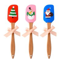 3D Christmas Pattern Silicone Soft Spatula Butter Cream Scra...