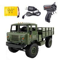 WPL B-24 Control remoto Camión militar DIY Off-Road RC Coche 4 ruedas Buggy Drive Toill GAZ-66 Vehículo para regalo de cumpleaños Juguete LJ201209
