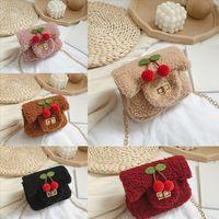Junger mädchen tasche handtaschen leder designer kind cherry süße schulter luxurys crossbody frauen crossbody messenger l4998 tasche mini plu udi vnpr