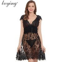 Sexy Night Dress Plus Size Women Pyjama Female Lingerie Lace...