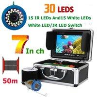 Cameras 7 Inch Monitor 50M 1000TVL Fish Finder Underwater Fishing Video Camera 30pcs LEDs Waterproof CMOS Sensor1