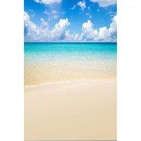 Playa de arena de mar Nube Fotografía Fondo Estudio de fotos de paisaje impreso para niños Fotófono retrato de bebé