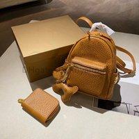 2021 Diseñador de lujo Moda Mujer Carta Lady Bolsa Compuesto Impreso Impreso Cuero genuino Tote Moda Mochila Estilo Unisex Mini Satchels Bolsos