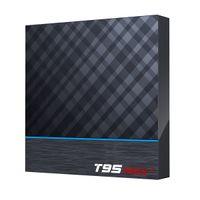 T95 MAX PLUS Android 9.0 TV Box Amlogic S905x3 2.4 جرام / 5 جيجا هرتز Wifi BT 8K الذكية مجموعة أعلى مربع مقابل Q زائد