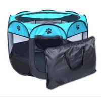 Портативный складной домашнее животное палатка собака домика клетки клетки собака кошка палатка PLAYPEN щенок питомник простой эксплуатация восьмиугольный забор открытый поставки высочайшего качества 8833