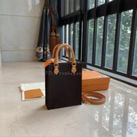 Luxurys Designer Crossbody Bags Womens Handtaschen Geldbörsen Schulter 2021 Top Qualität Echtes Leder Braun Anmutige Mode Buch Einkaufstasche Mini Messenger Sac Plat