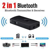 2 in1 Bluetooth передатчик приемник автомобильный комплект 3.5 мм стерео беспроводной музыкальный аудио кабель ключ V4.2 адаптер для телевизора DVD MP3