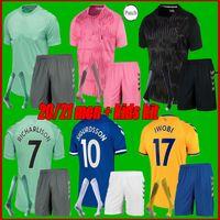 Toffees # 19 James Soccer Jerseys Home Away 2021 Men Kids Kit Soccer Shirt # 7 Richarlison # 26 Davies مخصصة زي كرة القدم