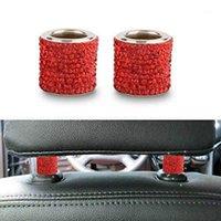 Jinyujiya İç Süslemeleri 1 ADET Koltuk Çubuk Elmas Yüzük Araba-Styling Araba Süs Kristal Kafalık Yaka Dekor Moulding1