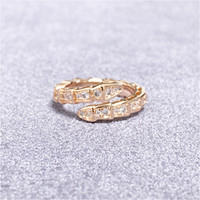 2020 New Gold Ring High Quality Silver Rings Snake Personality Couple Ring Fashion Jewelry Fashion Personality Jewelry For Women With Box