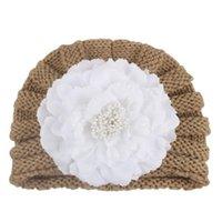 모자 모자 모자 보닛 en Forme de Pivoine Couvre-Chef d 'Hiver 유아 겨울 모자 태어난 헤어 액세서리를위한 큰 꽃 비니