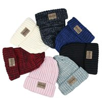 Winter Women Solid Beanie Knitted Warm Soft Trendy Letter Hats Simple Korean Style Casual Caps Elegant All-match Beanie