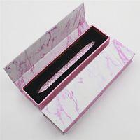 Diamant Eyeliner Pen Box Magie Selbstklebende Marmor Muster Make-up Wimpern Gule Pen Packung Gehäuse Benutzerdefinierte Eyeliner Bleistiftkiste 187 N2