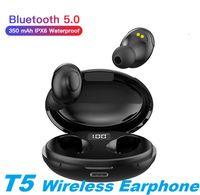 Drahtlose Kopfhörer Bluetooth V5.0 T5 TWS PK I12 / I11 / I9S TWS drahtloser Bluetooth Earbuds Kopfhörer-Kopfhörer-Kopfhörer mit LED-Anzeige