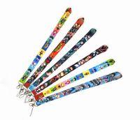 Новая горячая 10шт Популярные Мультфильм Аниме Мой герой Academia шнурки для ключей Мобильный телефон ремешок ID Badge Holder Rope Аниме брелок