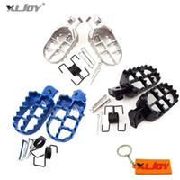 Xljoy alumínio alumínio pé pegs footpeg para pw50 pw80 pw 50 80 tw200r90r90e poço sujeira motocross motoccycle1