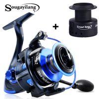 Sougayilang Spinning Pesca Reel 13BB + 1 Rodamientos de bolas de alta calidad 5.5: 1 Reel de pesca 2000-5000 8kg Max Drag Power Spinning Reel 201126