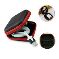 Caja de almacenamiento del cargador del cable del teléfono del teléfono del teléfono del teléfono portátil 7 colores Caja protectora de los auriculares DHL envío gratis