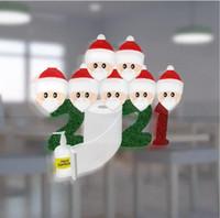 2021 Yılbaşı Cam Sticker Noel Süsler Pencere Survivor Andı Memorial Çıkartma Noel Ev Partisi Dekorasyon LJJP582