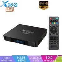 X96Q Pro Smart TV Box Android 10 Allwinner H313 Quad Corebox H.265 4K UHD HDR 2.4G5G WiFi pour la réunion de réunion de jeu