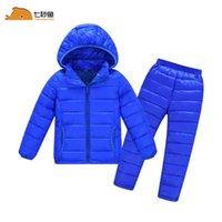 Дети зимняя куртка наборы девушки зимнее пальто мальчик зимняя куртка девочка теплая одежда 2 шт lj201017