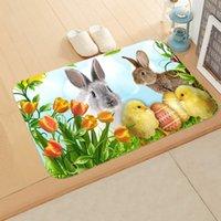 Joyeux Tapis de Pâques Tapis de Pâques Rabbit Impression Flanelle Suisse Salle de bain Porméatère 40 * 60cm Tapis Tapis Salle de bain de lapin Tapis antidérapant 13 Styles 179 N2