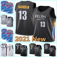 Brooklyn.RedesNovo James 13 Harden Jerseys Kyrie Kevin 7 Durant Jerseys 11 Irving Black NCAA 72 Biggie Basketball Jerseys