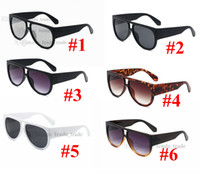 Vintage Square Square Sunglasses Luxo Estilos de Moda Preto Leopardo Grande Quadro Sol Óculos Femininos Coulos 6 Cores 10 pcs Fast Ship