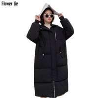 Winterjacke Frauen 2020 Neue X-Long Parka Lose Casual Black Cotton Mujer Dicke Warme Plus Size Mantel Womens1