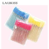 Escovas de maquiagem 50 pcs Descartáveis pincel pincel pincel de rímel baralhas aplicador enxerto de enxerto de enrolamento pente de beleza ferramenta Laukiss